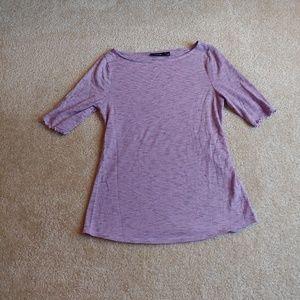Apt 9 gently worn purple& black top